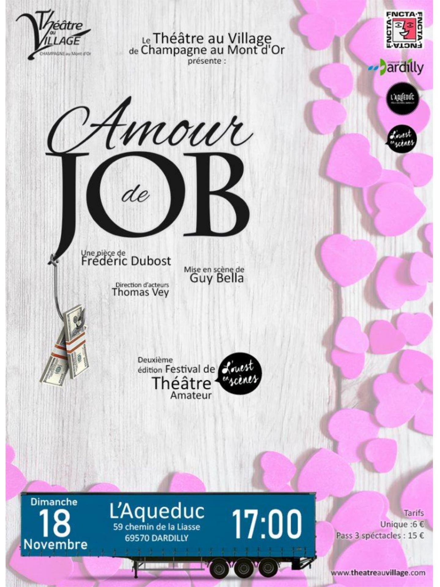 Affiche amour de job pour festival ouset en scenes