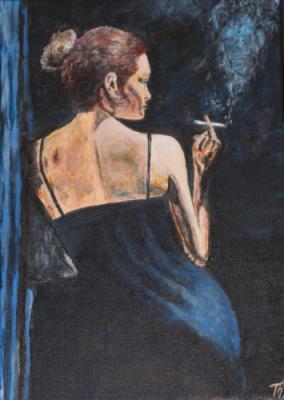 Femme fume 500x500