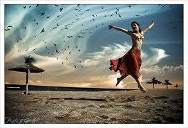 Femme libre plage